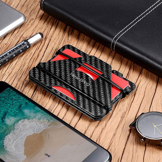100% RFID Anti-Theft Carbon Fiber Card Wallet