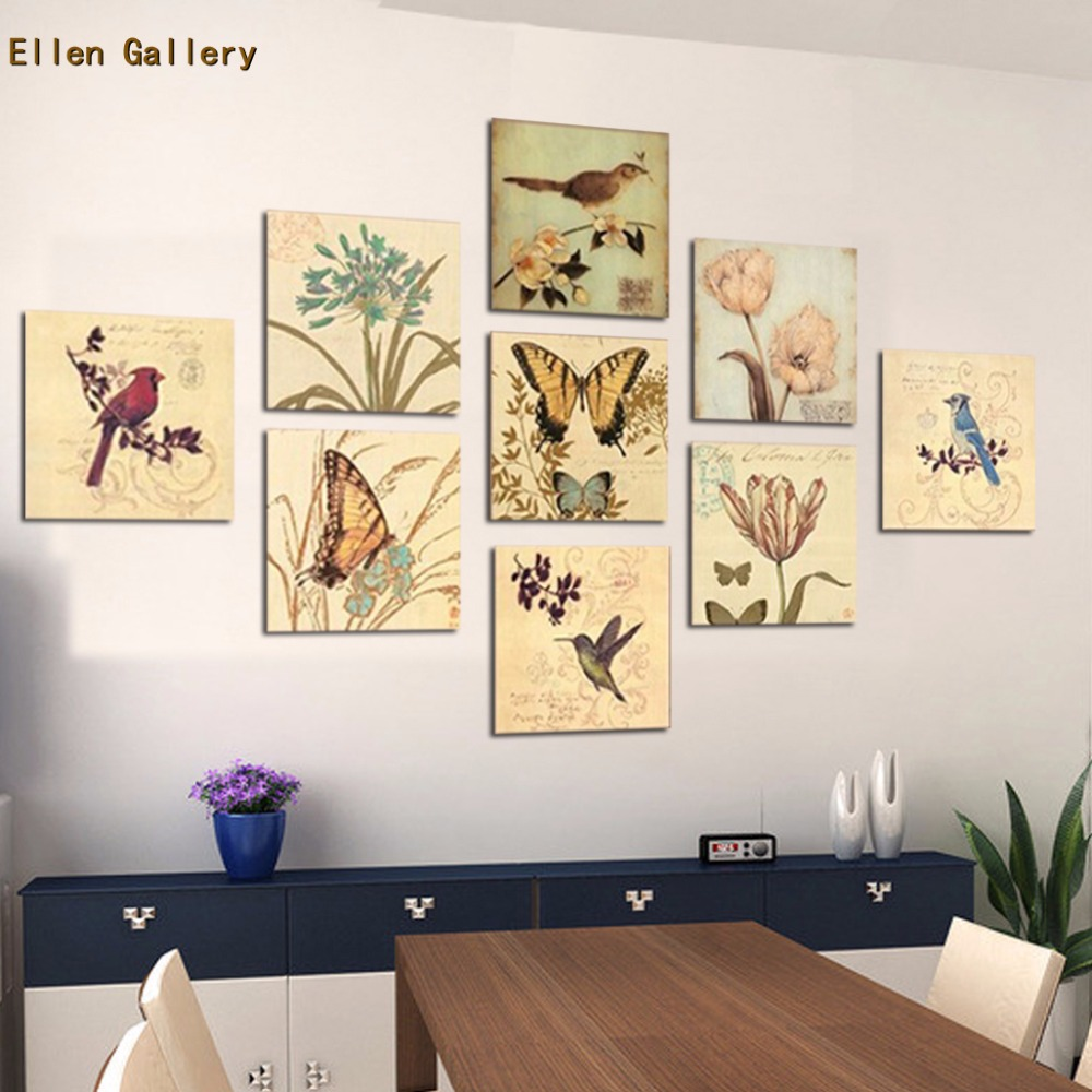 9 Piece Animal Wall Art Canvas Painting Wall Pictures For ...
