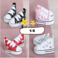 Cute BB PU Canvas Shoes 6colors for BJD 1/8 ob az xaga Doll Shoes SB19