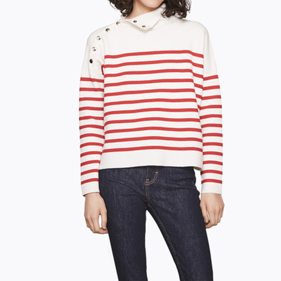 Red Striped Sweater Women Christmas Warm Wool Womens Sweaters Harajuku Pull Femme Hiver Fashion Knitwear Autumn 2017 60B0263