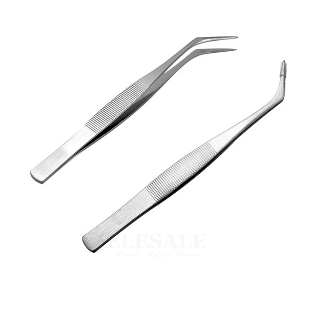 1-5 Pcs Mini Portable Stainless Steel Tweezers Wound Treatment Tool For Grip Small Things Repair First Aid Kits Supplies 4