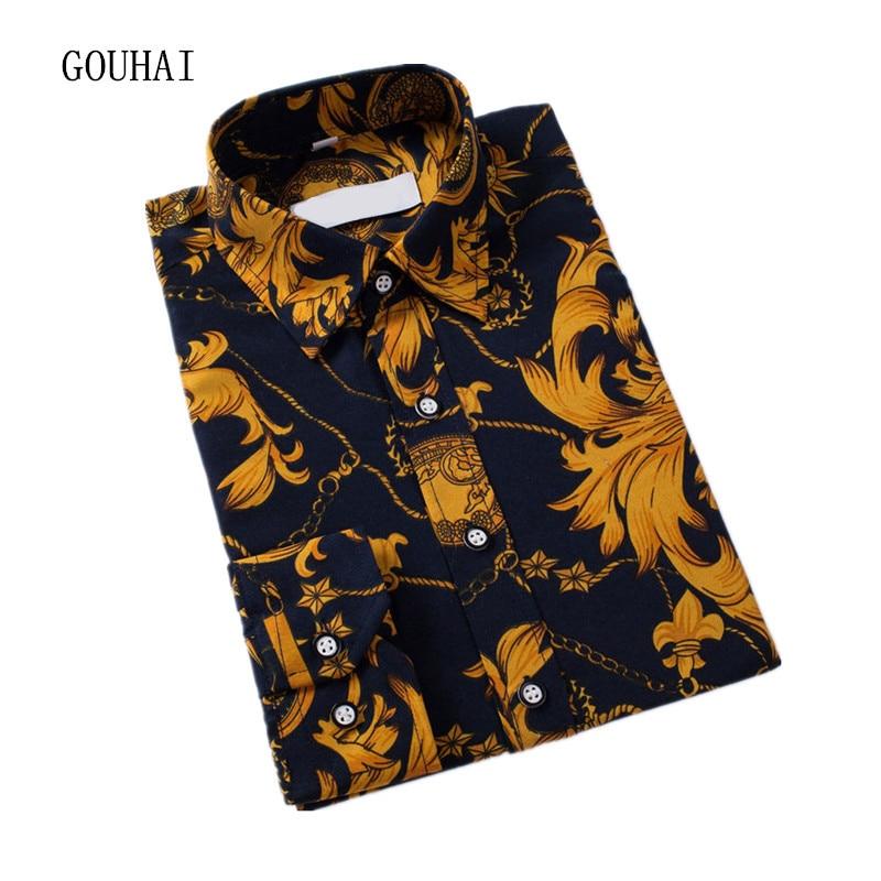 Men Shirt 2017 New Arrival Male Casual Shirts Long Sleeve Slim Fit Mens Dress Shirts Plus Size M-XXXL 4XL 5XL High Quality
