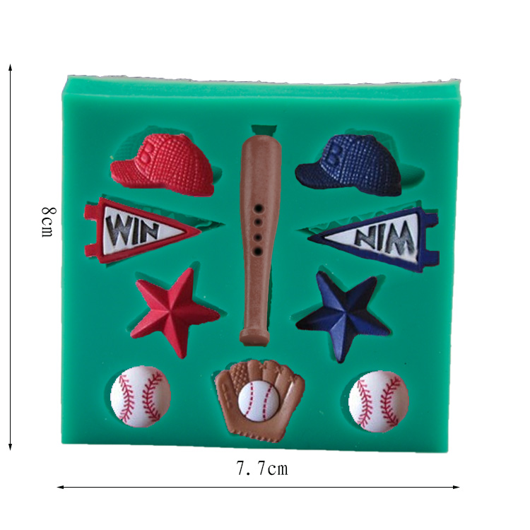 baseball cap fondant mold font cake sports candy wilton pan