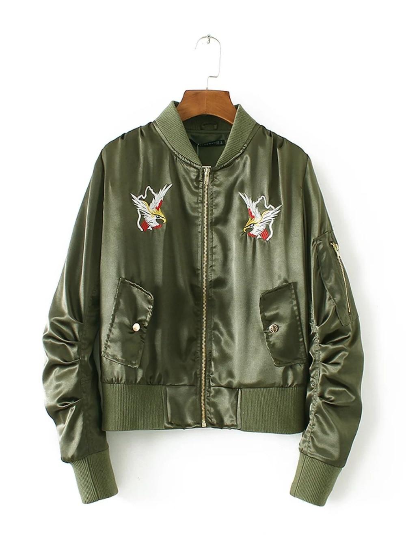 Mujeres chaqueta de bombardero 2017 capa femenina traje de vuelo de la chaqueta