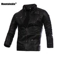 Горные мужские кожаные куртки мотоциклетное пальто из искусственной кожи весна осень повседневные мужские кожаные облегающие пальто Мужс...