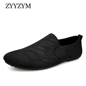 ZYYZYM Men Loafers Casual Shoes Men Spring Summer Canvas Man Shoes Light Breathable Fashion Flat Footwear spring summer canvas shoes men breathable casual brand lace up flat shoes comfortable fashion sneakers espadrilles men footwear