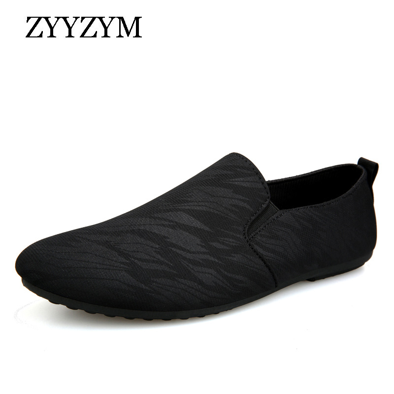 ZYYZYM Men Loafers Casual Shoes Men Spring Summer Canvas Men Shoes Light Breathable Fashion Flat Footwear