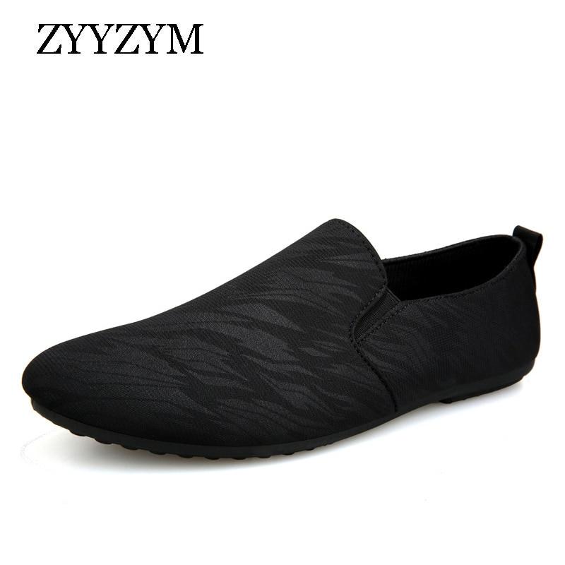 ZYYZYM Men Loafers Casual Shoes Men Spring Summer Canvas Men Shoes Light Breathable Fashion Flat Footwear