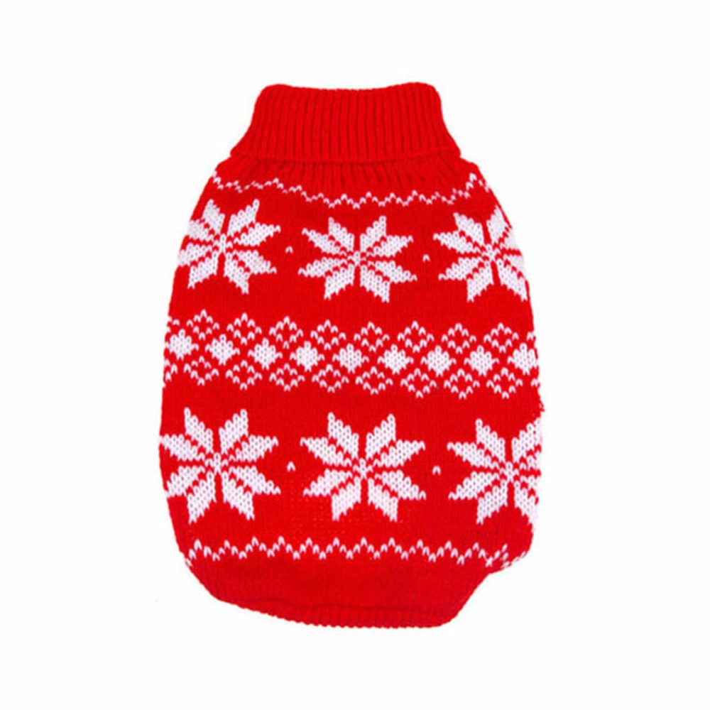 Warm Dogs Pet Soft Xmas Sweater Clothes Knitwear Breathable Soft Cotton New Design Pets Doggy Puppy Cat Christmas Costume D9440