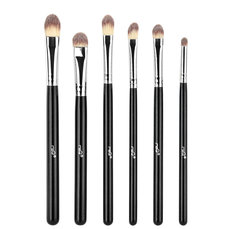 MSQ 6pcs Eyeshadow Makeup Brushes Set Professional Eye Brush Eye Shadow Blending Make Up Brush Soft Synthetic Hair g073 professional makeup brush goat hair ebony handle make up eye shadow smudge brushes cosmetic tool eye shadow blending brush