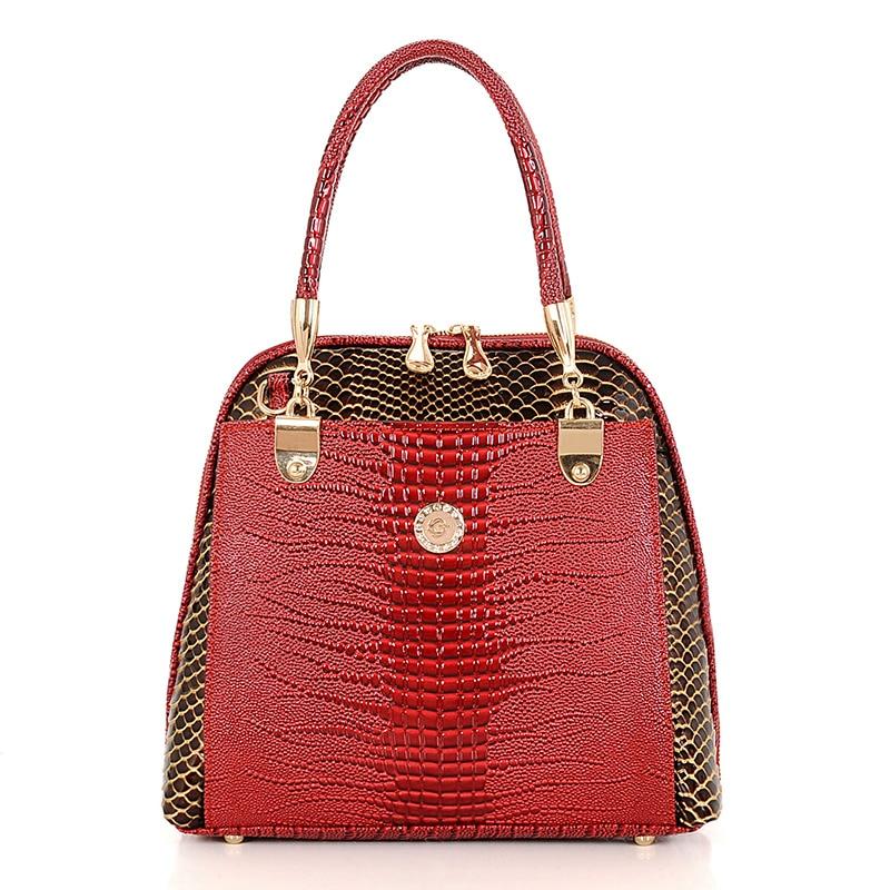 2017 Snake texture Crocodile Leather bags handbags women famous brands designer Tote shoulder bags evening crossbody bag