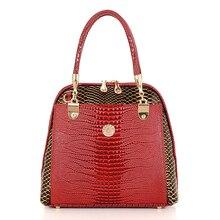 2016 schlange textur Crocodile ledertaschen handtaschen frauen berühmte marken designer Tote schultertasche abend crossbody tasche