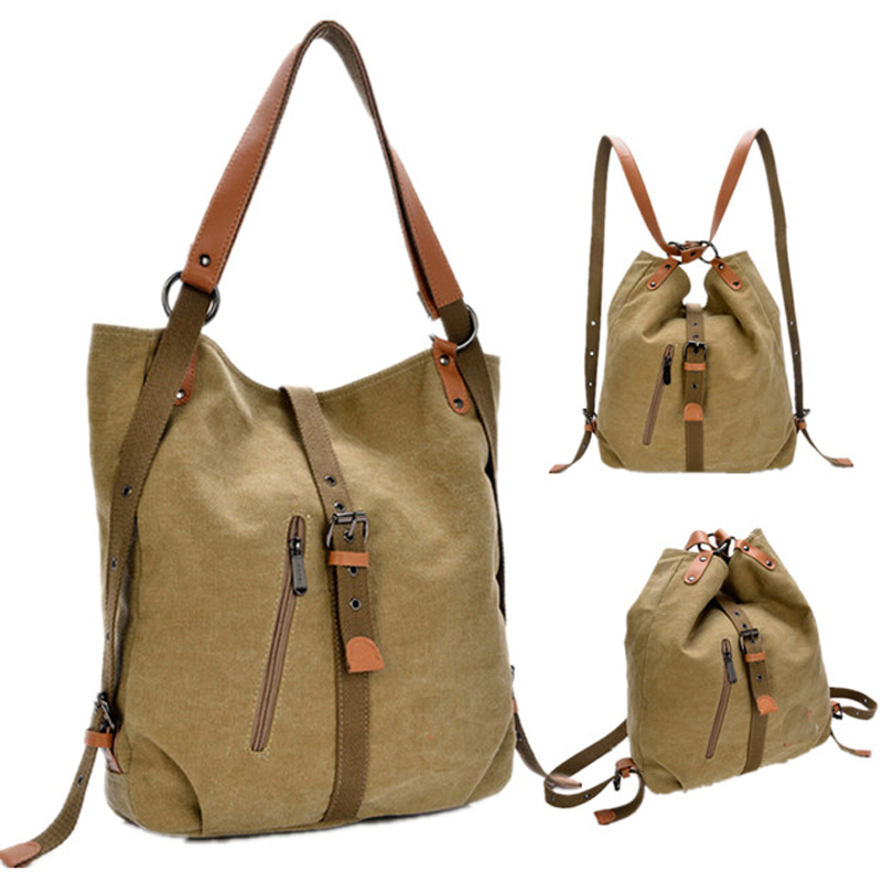 New 2016 backpack vintage canvas women bag shoulder bag women backpack preppy style school bags travel backpack mochila feminina
