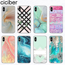 ciciber Color Stripe Marble Art Phone Cases for Iphone 11 Pro XR XS MAX X Silicone Cover iphone 7 8 6 6S Plus 5S SE Funda