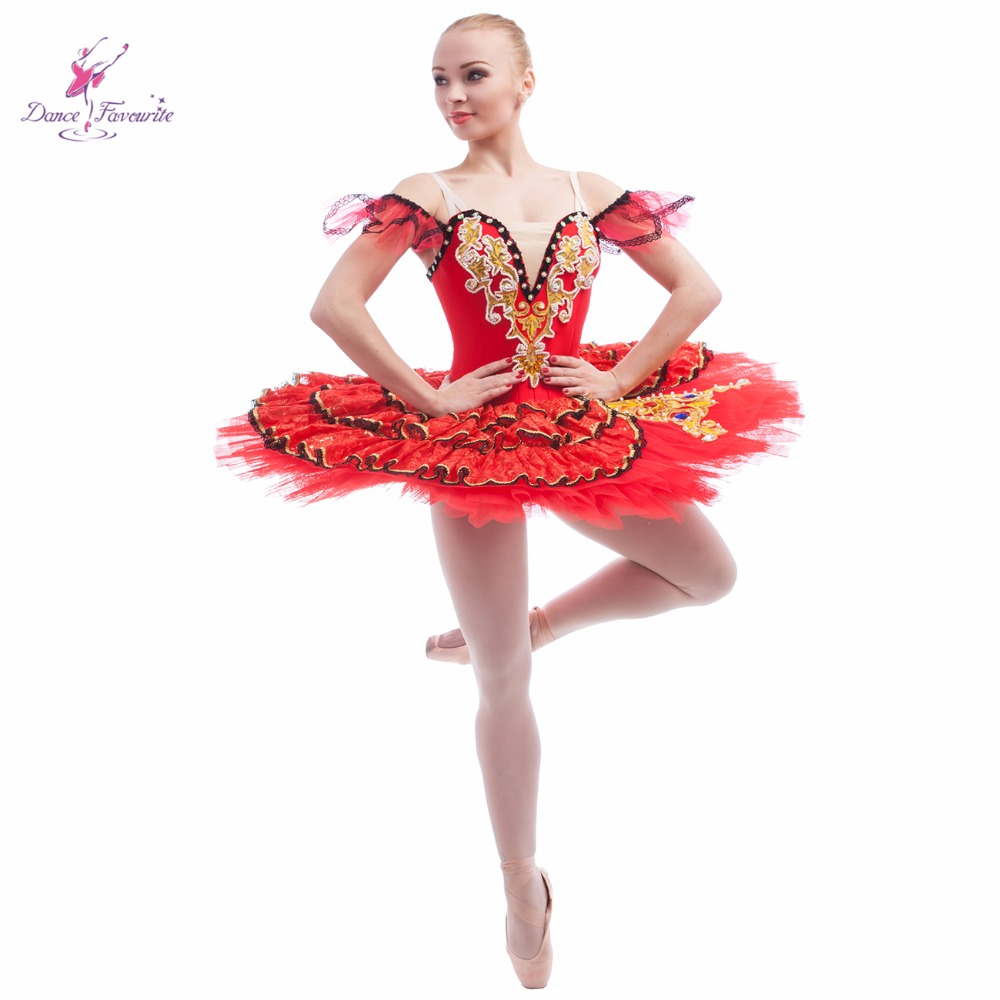 Customer size made Spanishe design red spandex bodice professional ballet tutu girl & women tutu ballerina dance costume tutu
