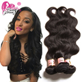 Beauty Forever 7A Peruvian Body Wave Virgin Hair 3 Bundle Deals Virgin Peruvian Human Hair Weaves Natural Color