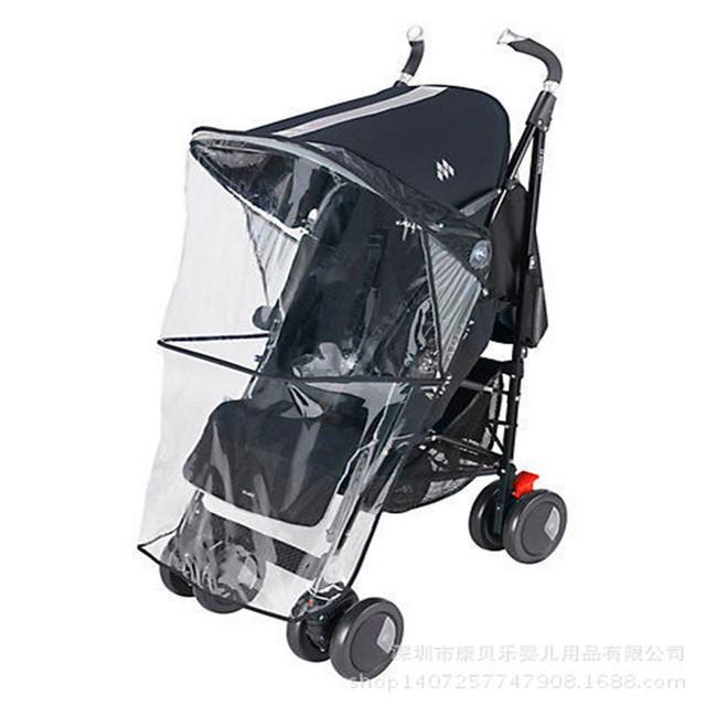Cochecito de bebé cubierta y cubierta para la lluvia y viento Universal Impermeable Cubierta Para La Lluvia Bebé Carro Paraguas Coche de Polvo/Casquillo Del Viento YUJU18