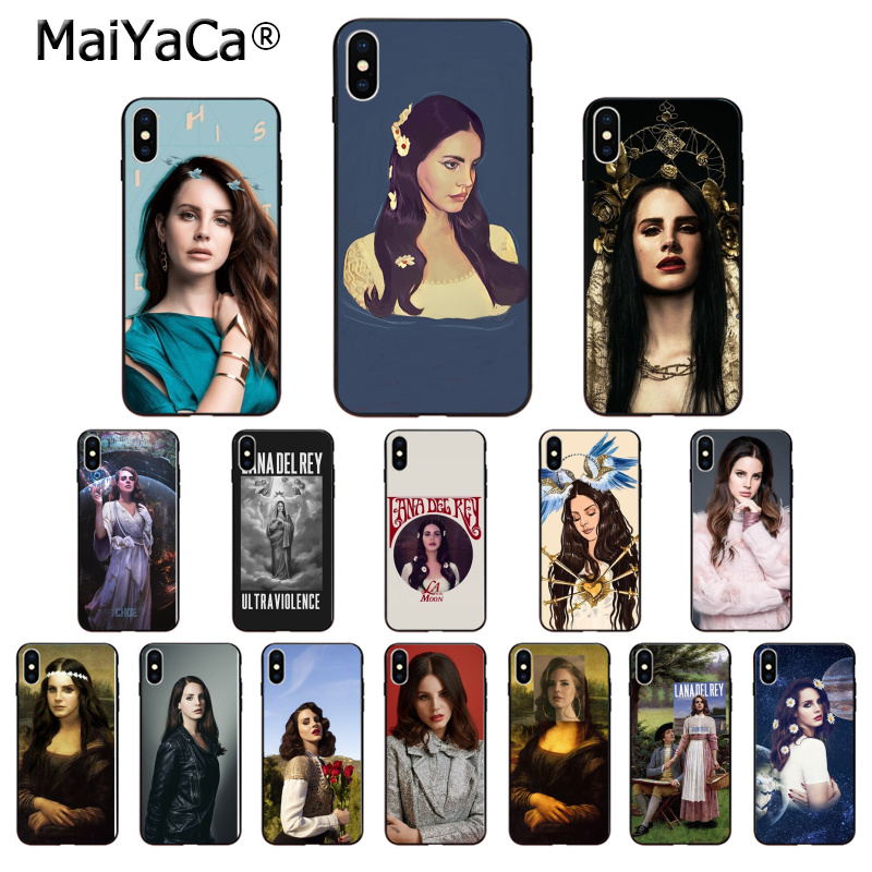 MaiYaCa cantante Lana Del Rey custodia morbida in Silicone TPU nero per Apple iPhone 8 7 6 6S Plus X XS MAX 5 5s SE XR cellulari