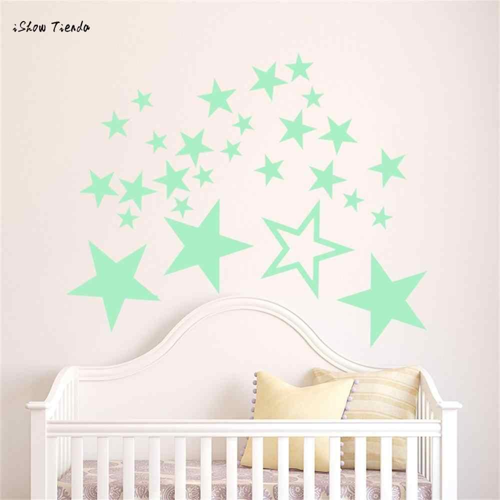 New Hot Glow In Dark Wall Ceiling Stars Stickers Wall Stickers Night Kid Home Decor Dark Stars Wall Stickers
