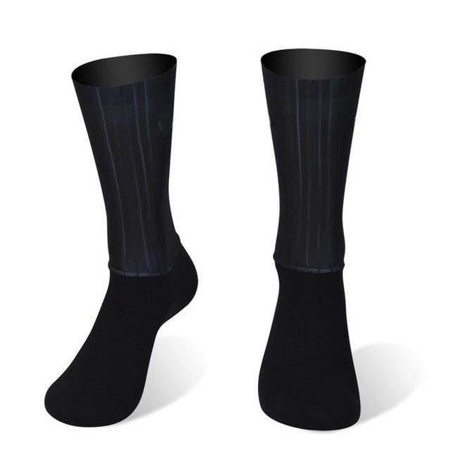 Meias esportivas antiderrapantes de silicone, meias de silicone para homens, bicicleta, corrida e ciclismo 2