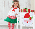 2015 new fashion suit polka dot kids clothing sets Christmas baby girls clothes Girls T-shirt+ legging pants roupas meninas