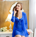 Retail 3 Color Women Sexy Temptation Nightdress Lace Floral Nightgowns Perspective Romantic Adytum Night Robes Intimates Slips