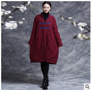 In autumn and winter in 2015 new product, original design brand quality 100% cotton linen loose big yards Women's cotton food design in italy product development and communication