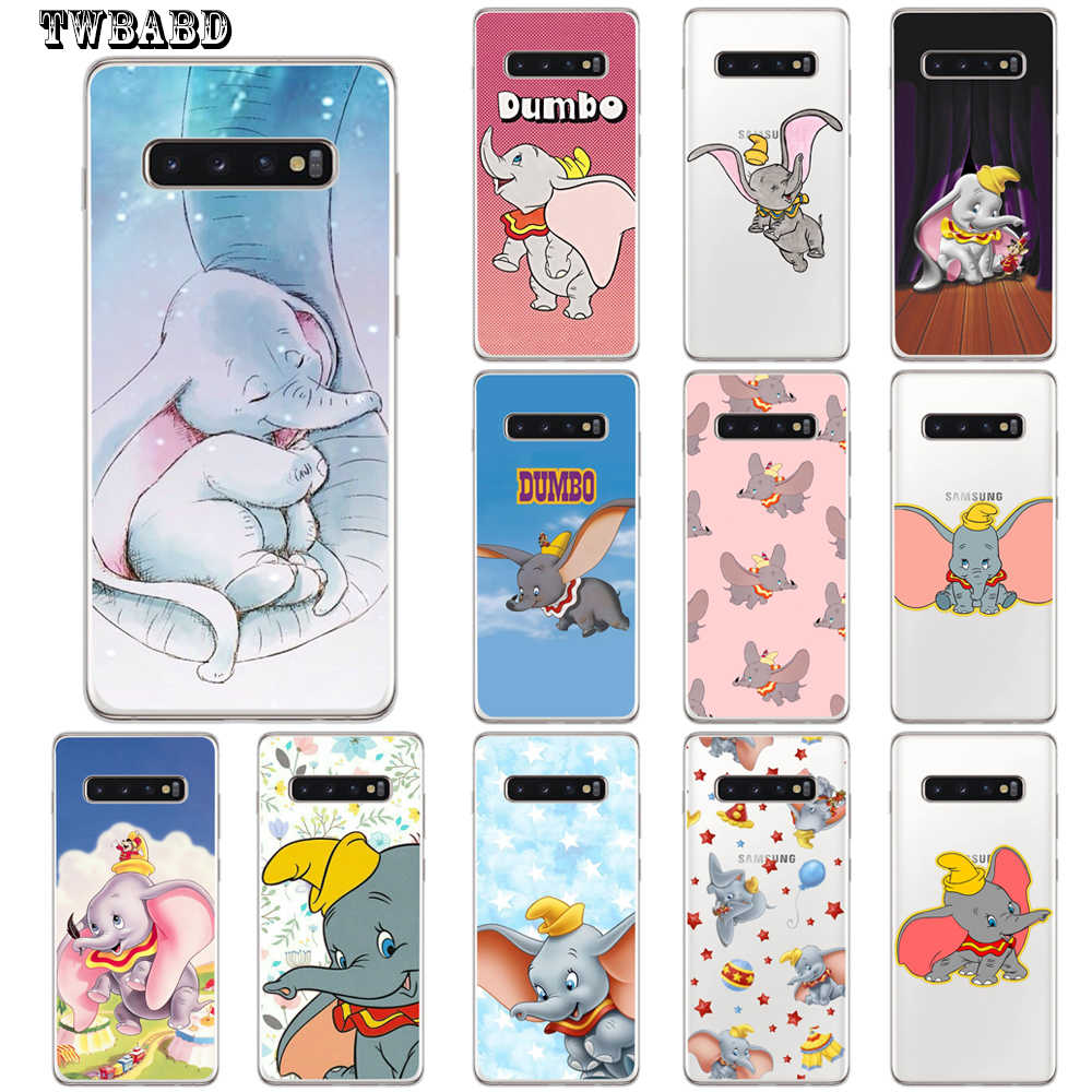 Animation Dumbo Capa Coque Phone Case For Samsung S9 S8 S10 Plus S7 S6 Edge S10 Lite Note 8 9 Soft Cover for SaM- S10 Plus Etui