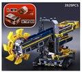 Hot lepins Técnicas de Engenharia elétrica série bloco de construção Balde escavadora de rodas com Motor compatível legod 42055 cidade brinquedo