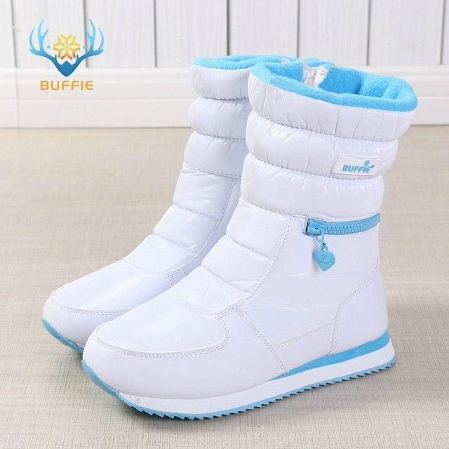Mùa đông Giày nữ ladys ấm giày tuyết khởi động bên trong hỗn hợp len tự nhiên màu trắng BUFFIE 2019 ưa nhìn giá rẻ vận chuyển