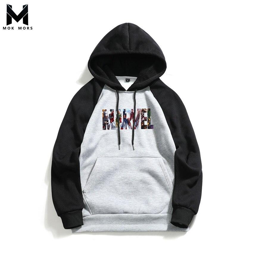 Sweatshirts Men Hooded-Thread-Cuff Printing Long-Sleeved Fashion-Brand Wild Casual Cross-Border