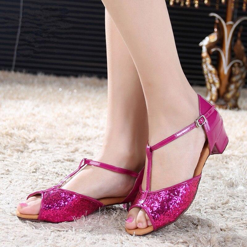 Ladies/Girls/Women Glitter Professional Cheap Ballroom Shoes / Salsa Shoes / Tango Shoes / Latin Dance Shoes 6502