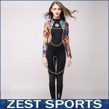 Высокая - конец, 3 мм женщины неопреновый гидрокостюм, Цвет сшивание, Медузы одежда, Для серфинга оборудование, С длинными рукавами частей установлены, S55(China (Mainland))