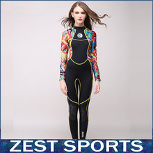High-end,3mm women neoprene wetsuit,color stitching,Jellyfish clothing,Surf Diving Equipment,long-sleeved piece fitted,S55