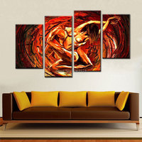 Hand Painted Modern Abstract Decoration Oil Painting Nude couple Home Picture For Living Room Wall Art Canvas 4 Piece SALE