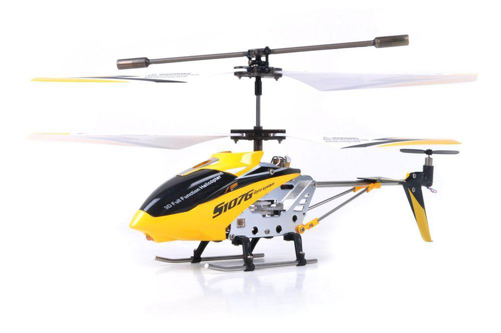 LeadingStar Qiyun New 2018 version SYMA S107G/S107 3.5 Channel RC Helicopter with Gyro Yellow 3 7v 180mah lipo battery for syma s105 s107 s107g s109 s107 19 for skytech m3 3 7v 180mah 1s li po battery 3 7v helicopter part