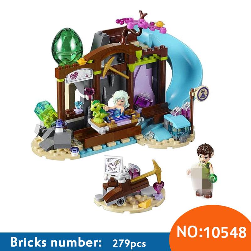 10548 Elves The Precious Crystal Mine Building Block Set Naida Farran figures baby dragon Toys for children Compatible 41177