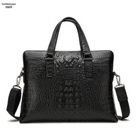 YUPINXUAN Europe Fashion Mens Leather Handbags Genuine Leather Briefcases Crocodile Grains Business Bags Cow Leather Hand