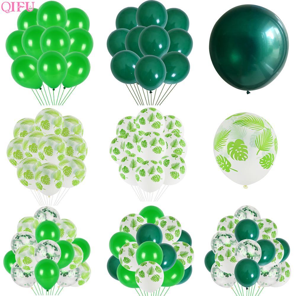 Mint Green Balloons Light Green Balloons Ballons Baloons Dark Rreen Balloon Birthday Party Decor Kids Jungle Safari Party Decor