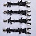 Pierna garter 1 par negro metal clips arnés liguero gótica punky harajuku stocking ligueros de fetiche elástico puede ajustar el tamaño