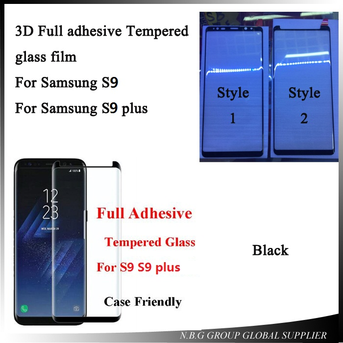 US $6 8 15% OFF|3D Full Adhesive S9 Tempered Glass For SAMSUNG S9 Case  Friendly Full Glue Screen Protector Film For Galaxy S9+ S9 plus-in Phone  Screen
