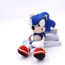 High Quality 19cm Blue Sonic Plush Doll Toy Soft Sonic Stuffed Animals Character