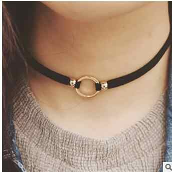 Fashion black collar neck chain sexy round clavicle wild temperament choker necklace Cowboy accessories jewlery