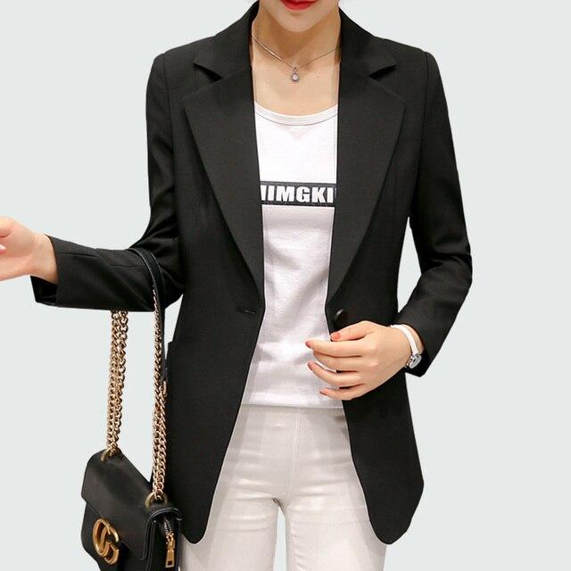 Wine Red Black Women Blazers And Jackets 2018 New Spring Autumn Fashion Single Button Blazer Femenino Ladies Blazer Female 5