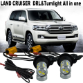 2X Car LED light  For T.O.Y.O.T.A LAND CRUISER 200 2007-2015  LED DRL Daytime Running Lights &Front Turn Signals  All In One