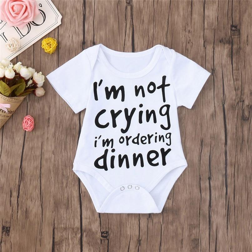 Summer Baby Clothes Babys Romper Newborn Toddler Infant Baby Boy Girl Letter Print Short Sleeve Jumpsuit Romper Clothes JE13#F