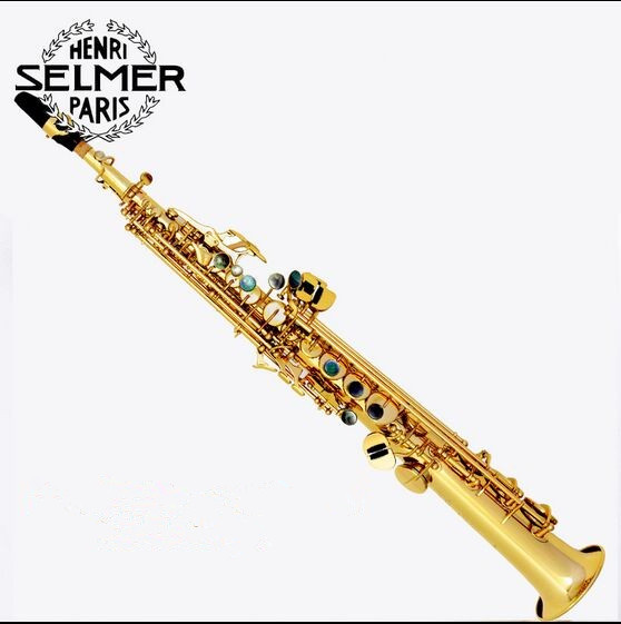 Soprano Saxophone Electrophoresis of gold Selmer 803 hot top musical instruments Sax soprano professional degree free freight tenor saxophone free shipping selmer instrument saxophone wire drawing bronze copper 54 professional b mouthpiece sax saxophone