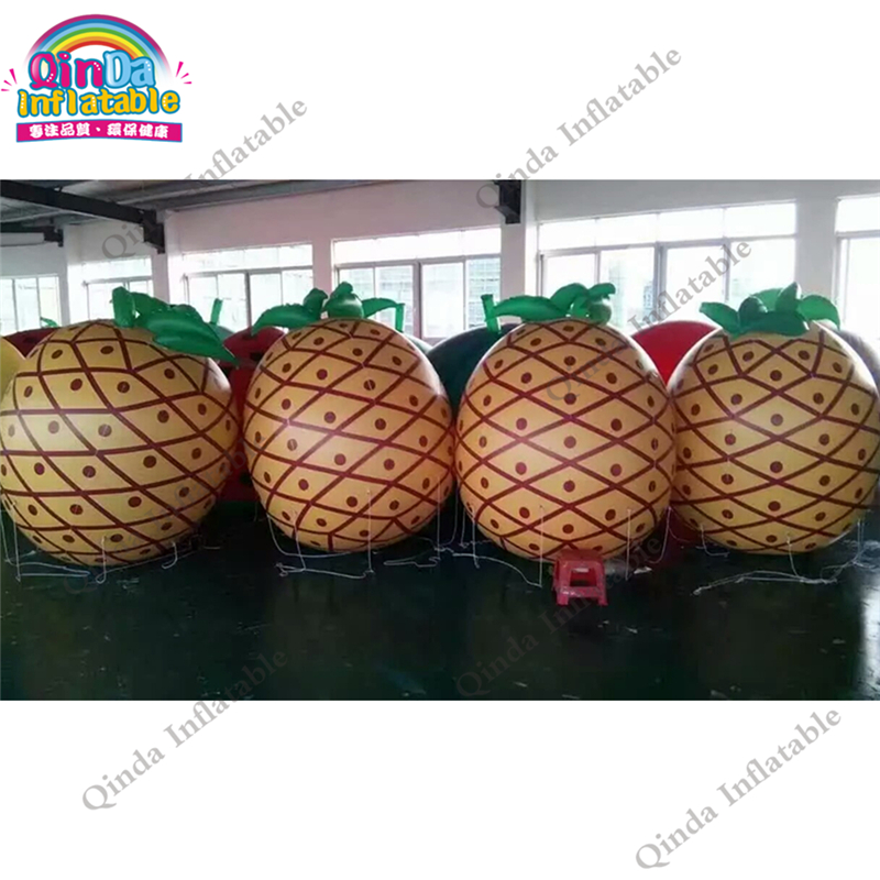 Fruit Party 2M Inflatable PVC Watermelon Imitation,Pineapple,Strawberry, Grapefruit,Orange Imitation For Advertising 2m inflatable tomato balloon for advertisement other vegetables and fruit shapes