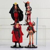 4Pcs Lot Anime One Piece Sanji Nico Robin Roronoa Zoro Nami Version Brinquedos OP Collectible Model