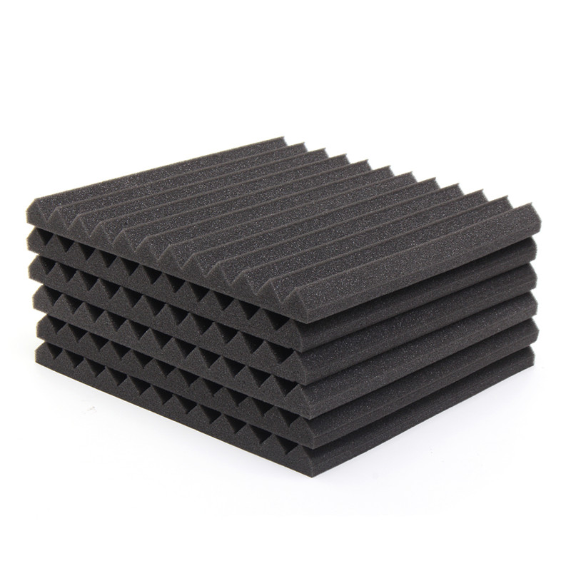 2Pcs 300*300*25mm Acoustic Soundproof Sound Stop Absorption Soundproofing Foam For KTV Audio Room Studio Room